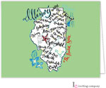 Inviting Co. - Stationery/Thank You Notes (Illinois Map)