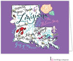 Inviting Co. - Stationery/Thank You Notes (Louisiana Map)