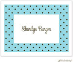 Little Lamb Design Stationery - Dotted Border