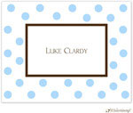 Little Lamb Design Stationery - Blue Dots