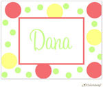 Little Lamb Design Stationery - Bright Dots