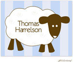 Little Lamb Design Stationery - Blue Little Lamb