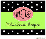 Little Lamb Design Stationery - Black Monogram