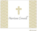 Little Lamb Design Stationery - Beige Cross