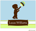 Little Lamb Design Stationery - Boy Silhouette