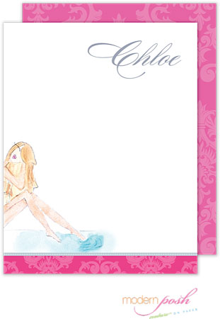 Modern Posh Stationery/Thank You Notes - Diva - Blonde Beach Diva