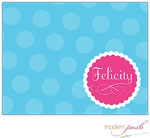 Modern Posh Stationery/Thank You Notes - Blue Dot Posh - Blue & Pink