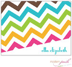 Modern Posh Stationery/Thank You Notes - Chevron Posh - Blue & Brown