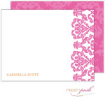 Modern Posh Stationery/Thank You Notes - Damask - Pink
