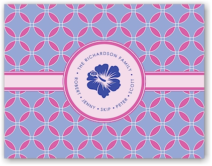 Noteworthy - Faux Stamp Imprintables (Looped Fuchsia Folded Note)