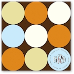 Noteworthy - Faux Stamp Imprintables (Chocolate Tangerine Dots Folded Note)