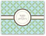 Noteworthy - Faux Stamp Imprintables (Looped Moss Folded Note)