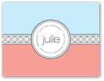 Noteworthy - Faux Stamp Imprintables (Coral/Sky Medallions Folded Note)