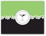 Noteworthy - Faux Stamp Imprintables (Lime & Black Botanical Folded Note)