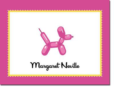 Noteworthy Collections - Stationery (Balloon Animal Pink)