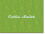 Noteworthy Collections - Stationery (Art Deco Bubbles Green)
