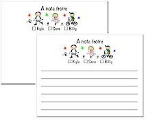 Pen At Hand Stick Figures Stationery - Checkboxes