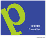 PicMe Prints - Stationery/Thank You Notes - Alphabet Chartreuse on Cobalt (Folded)