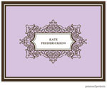 PicMe Prints - Stationery/Thank You Notes - Antique Frame Lavender (Folded)