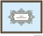 PicMe Prints - Stationery/Thank You Notes - Antique Frame Baby Blue (Folded)