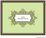PicMe Prints - Stationery/Thank You Notes - Antique Frame Spring Green (Folded)
