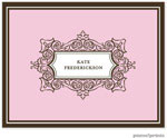 PicMe Prints - Stationery/Thank You Notes - Antique Frame Baby Pink (Folded)