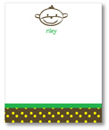Polka Dot Pear Design - Correspondence Cards (Mike the Monkey)