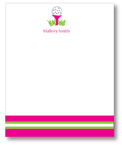 Polka Dot Pear Design - Correspondence Cards (Pink Tee)