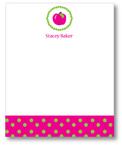 Polka Dot Pear Design - Correspondence Cards (Pink Apple)