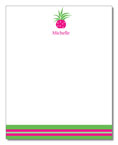 Polka Dot Pear Design - Correspondence Cards (Pink Pineapple)
