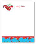 Polka Dot Pear Design - Correspondence Cards (Paisly Flower)