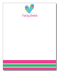 Polka Dot Pear Design - Correspondence Cards (Blue Flops)