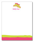 Polka Dot Pear Design - Correspondence Cards (Baby Shoes in Pink)