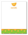 Polka Dot Pear Design - Correspondence Cards (Oranges)