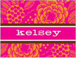 Prints Charming Note Cards/Stationery - Retro Floral (Folded)