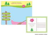 Prints Charming Camp Postcards - Summer Camp - Girl