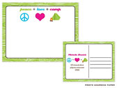 Prints Charming Camp Postcards - Peace+Love+Camp