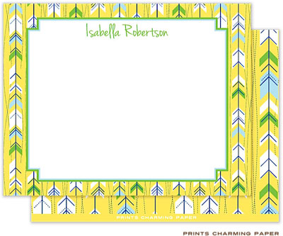 Prints Charming Note Cards/Stationery - Yellow Arrows (Flat)