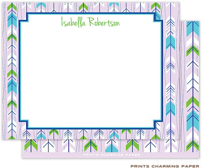 Prints Charming Note Cards/Stationery - Lilac Arrows (Flat)