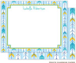 Prints Charming Note Cards/Stationery - Blue Arrows (Flat)
