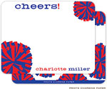 Prints Charming Note Cards/Stationery - Cheerleader (Flat)