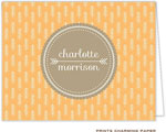Prints Charming Note Cards/Stationery - Tangerine Arrows (Folded)