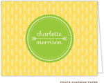 Prints Charming Note Cards/Stationery - Yellow Arrows (Folded)