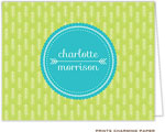 Prints Charming Note Cards/Stationery - Lime Arrows (Folded)