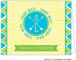 Prints Charming Note Cards/Stationery - Yellow Arrow Seal Camp Mail (Folded)