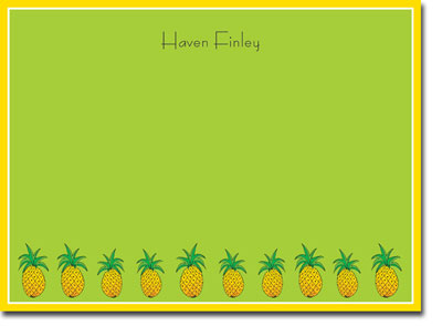 Chatsworth Robin Maguire - Stationery/Thank You Notes (Pineapple)