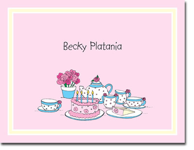 chatsworth robin maguire stationery thank you notes tea party