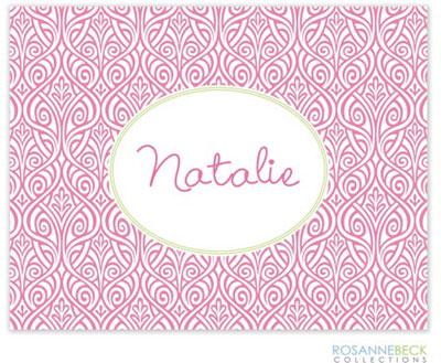 Rosanne Beck Stationery - Ornate Floral - Pink