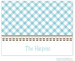 Rosanne Beck Stationery - Gingham - Blue