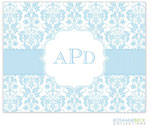 Rosanne Beck Stationery - Floral Damask - Blue